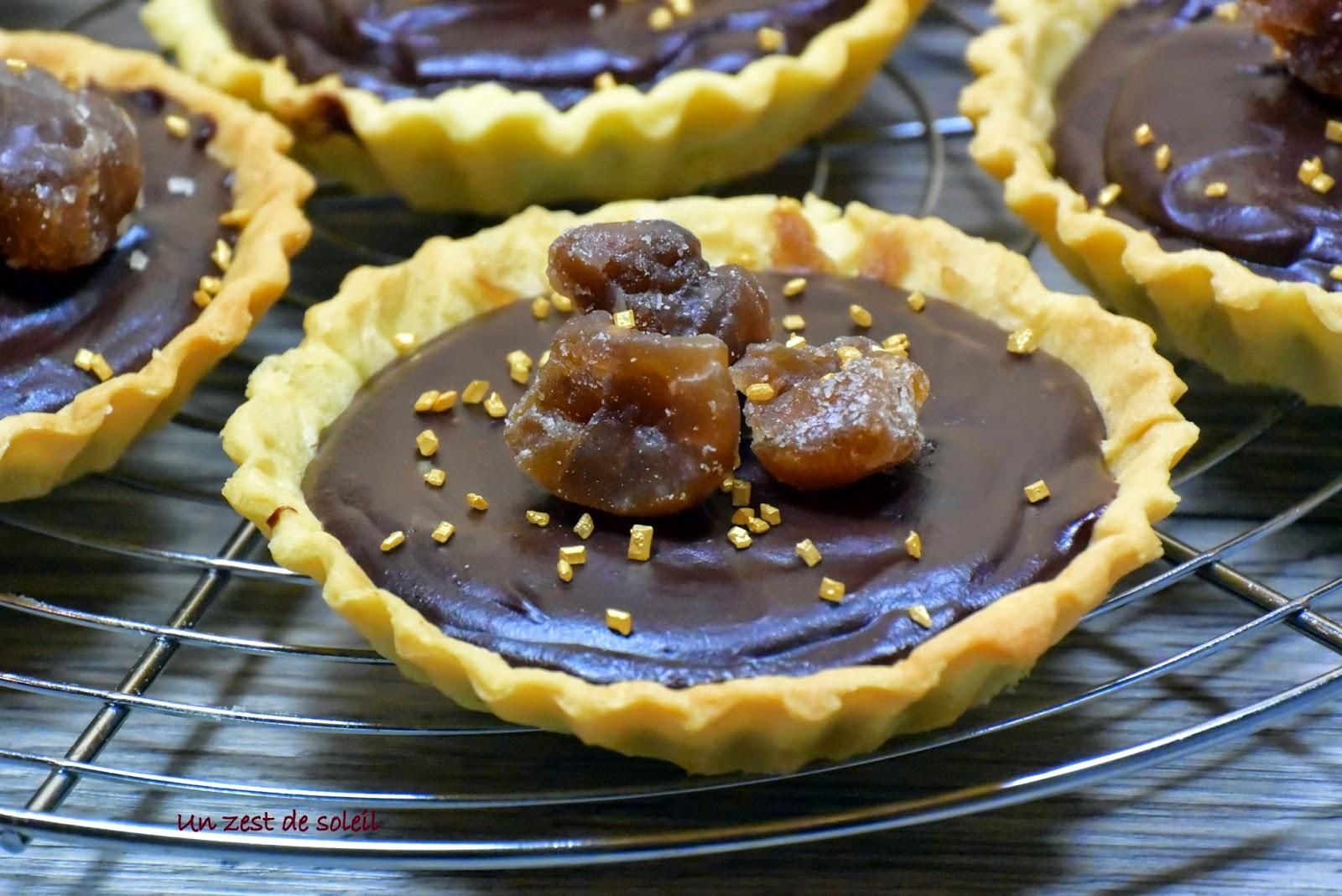 tartelette à la creme de marron et chocolat 1
