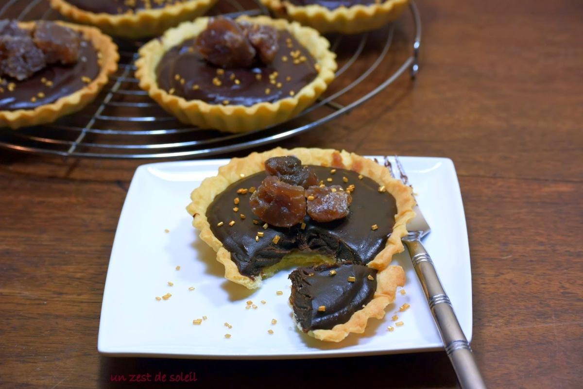 Tartelettes à la crème de marron etchocolat