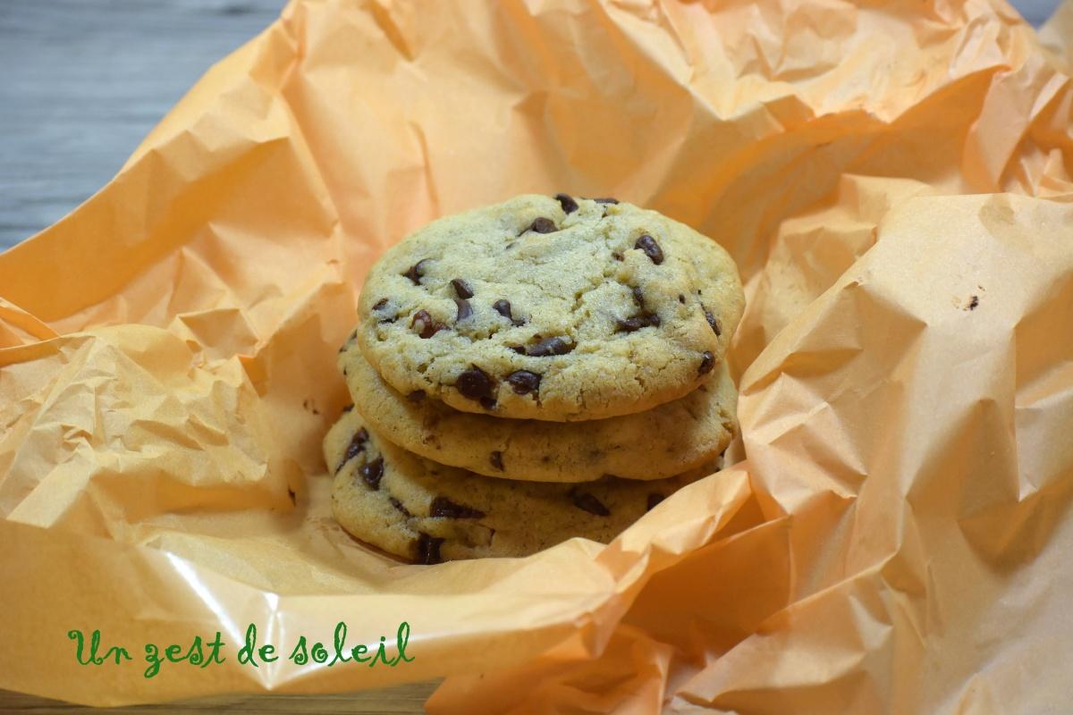 Cookies ultra moelleux avec des pépites de chocolat