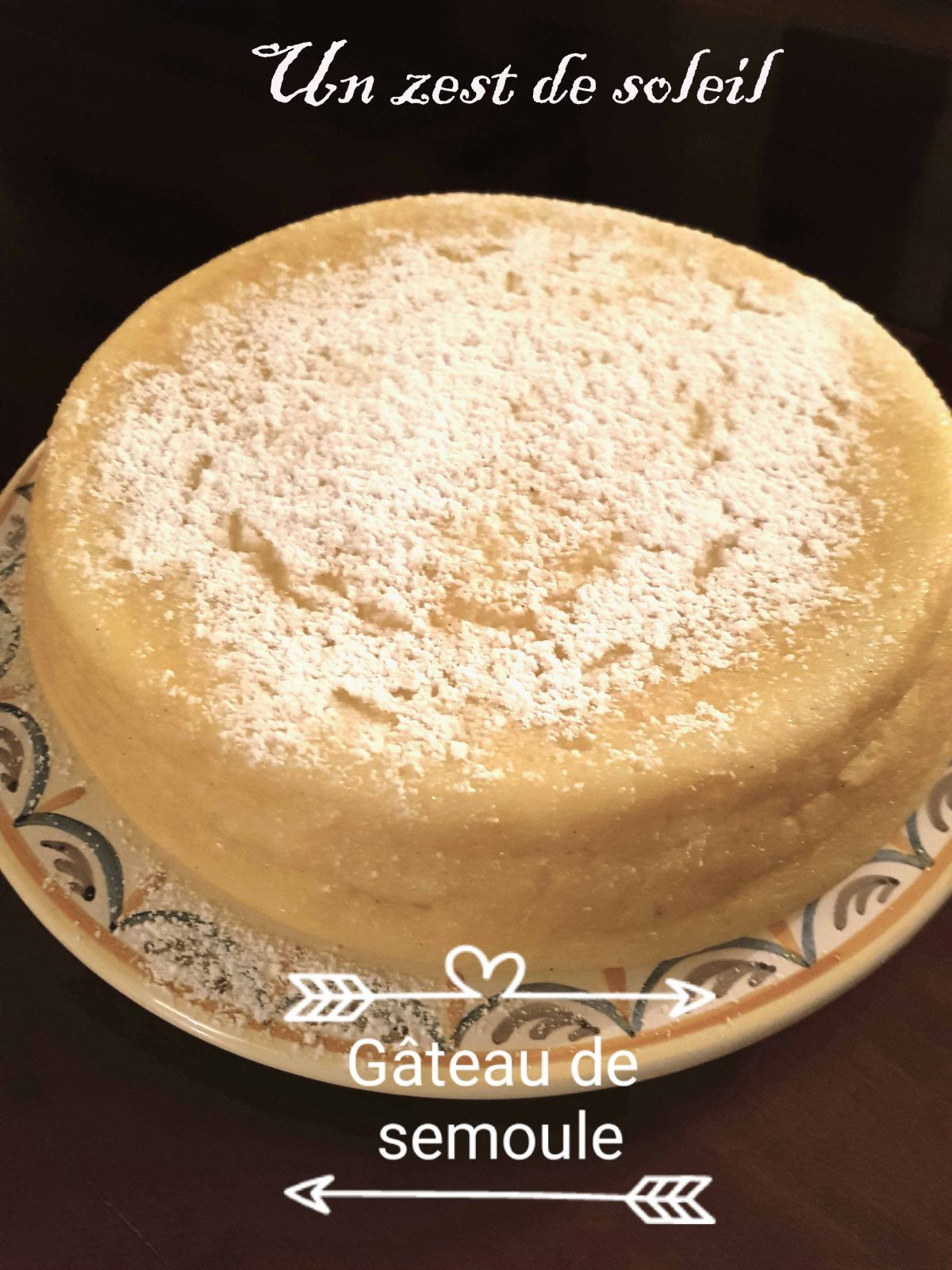 Gâteau de semoule à laricotta