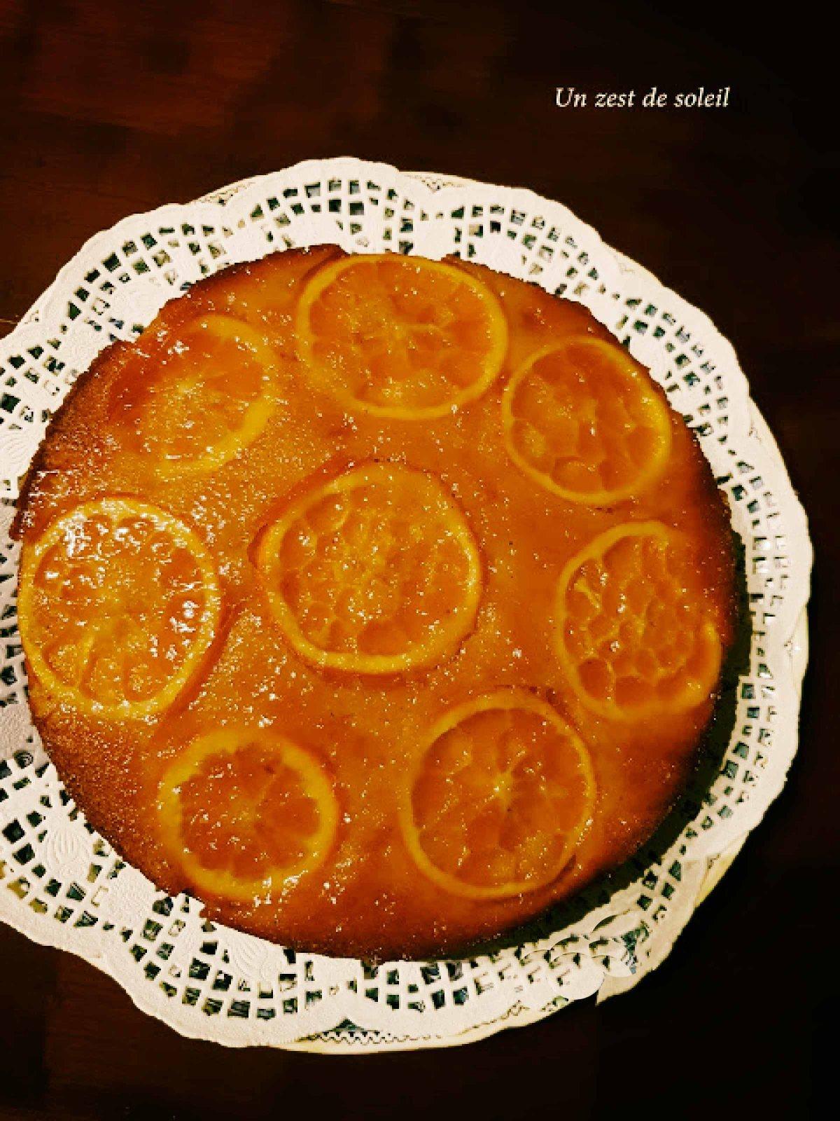 Gâteau renversé àl'orange
