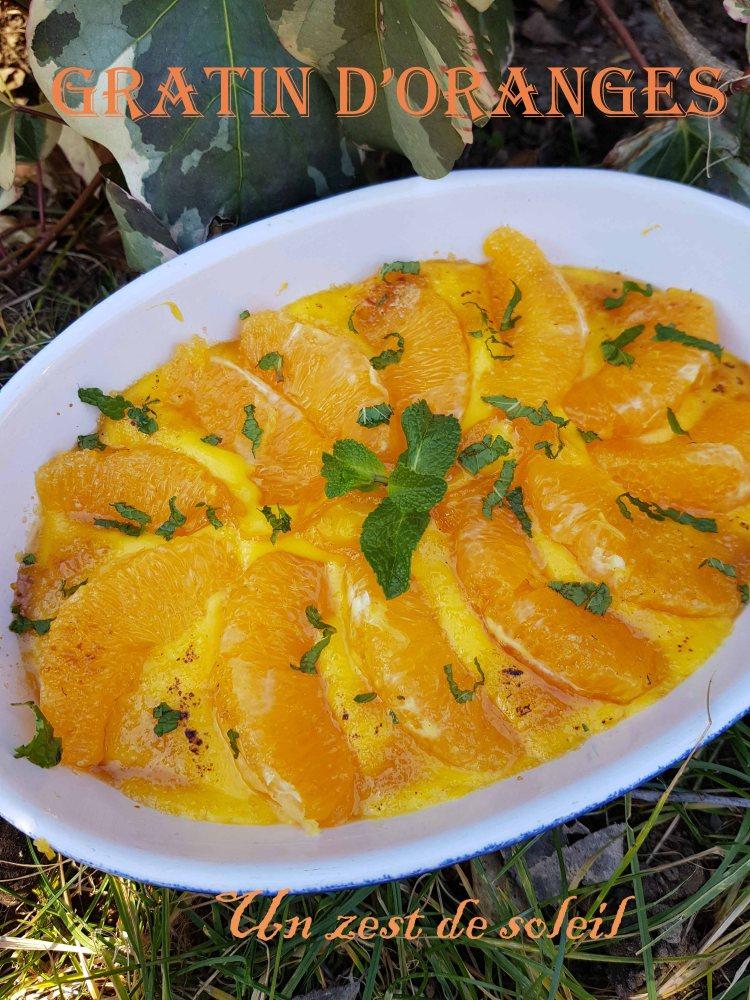 gratin d'orange s
