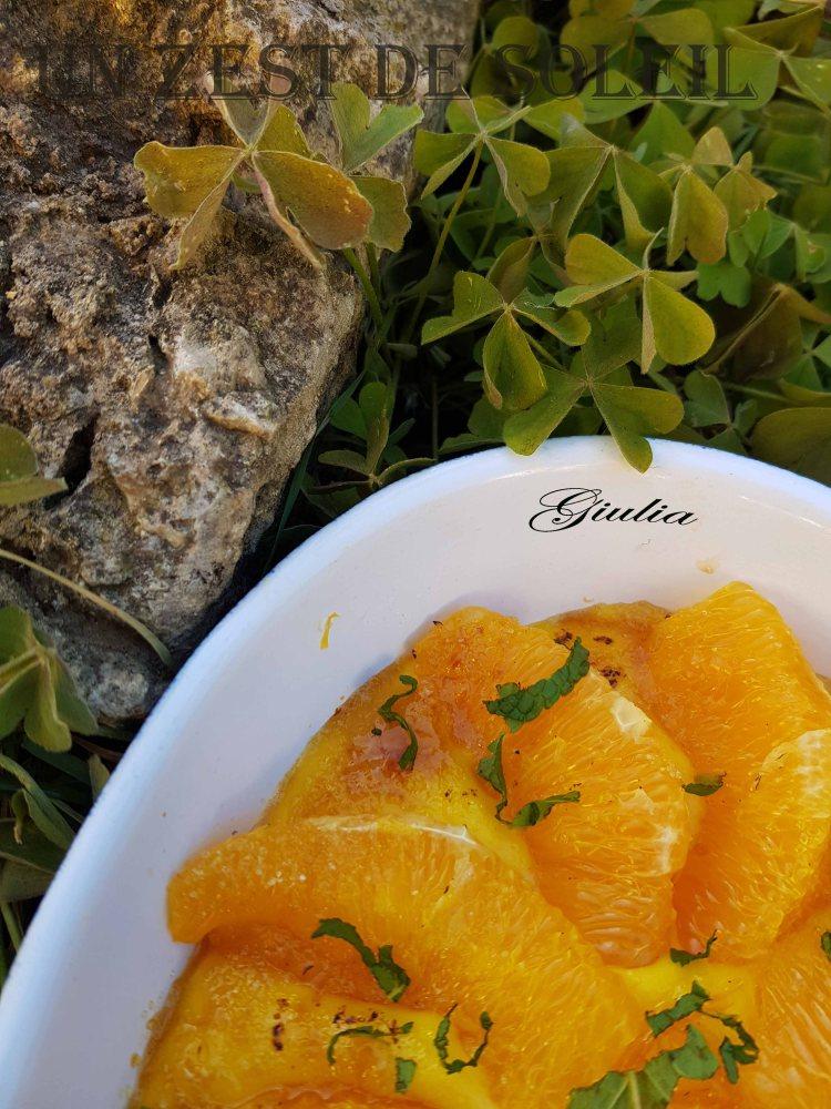 gratin d'oranges