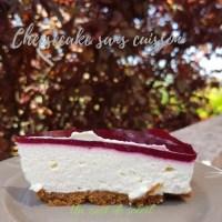 Cheesecake  aux framboises recette sans cuisson