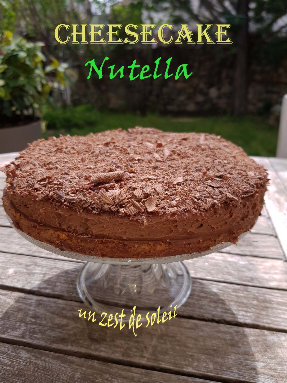 Cheesecake au Nutella sans cuisson
