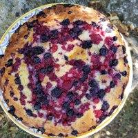Gâteau au yaourt et fruits rouges